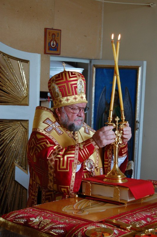Архиепископ Артемий возглавил богослужение в храме д.Вертелишки