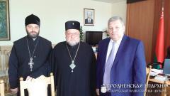 Встреча архиепископа Артемия с председателем Гродненского горисполкома