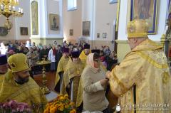 Архиепископ Артемий совершил литургию в храме деревни Деречин